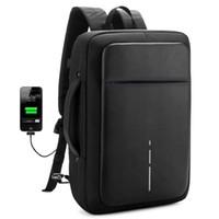 siyah 15 dizüstü bilgisayar sırt çantası toptan satış-2019 XD yeni tasarım USB şarj erkekler siyah seyahat sırt çantası omuz çantası erkek OL Iş 15.6 inç Dizüstü akıllı hırsızlık Sırt Çantası