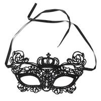 maskeli kukla için maskeler toptan satış-Yeni Lady Dantel Çiçek Göz Kraliçe Maske Üst Yarım Yüz Masquerade Ball Balo Cadılar Bayramı Kostüm Partisi Dekorasyon Topu Custome