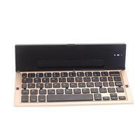 Wholesale mini wireless bluetooth foldable keyboard resale online - Portable Bluetooth Wireless Foldable Keyboard Mini Keypad Holder for IOS Android Windows Table PC LFX ING