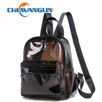 okul çantası çantası toptan satış-Chuwanglin Şeffaf jöle sırt çantası çanta kadın moda okul çantaları sırt çantası güzel küçük sırt çantaları mujer P4360