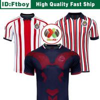 Wholesale new year cups resale online - New Chivas de Guadalajara Third Jerseys World Cup Soccer Jerseys Long Sleeve Kit Year MEXICO Club A PULIDO Football Shirts