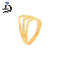 Wholesale gold jewellery ring man online - Three Layer Triangle Man Woman Rings Gold Plating Fashion Decoration Jewellery Wedding Engagement Party Ring Sizes Choose