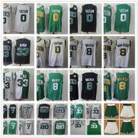 nueva jerseys marrones cosidos al por mayor-Kemba Walker Nueva Jersey 8 baloncesto Larry Bird 33 Jaylen 7 Brown Jayson 0 Tatum Gordon Hayward 20 36 Marcus inteligente camisa cosida a corto