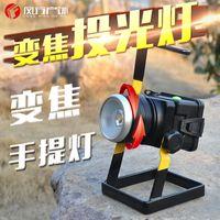 bateria de lítio de emergência venda por atacado-Projetor com zoom rotativo LED T6, holofote, carregamento de bateria de lítio de 1860, lâmpada de mina de emergência móvel