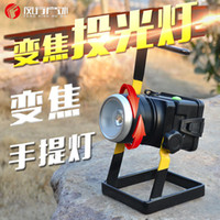 batería de litio de emergencia al por mayor-Proyector con zoom giratorio T6 LED, proyector, carga de batería de litio 1860, lámpara de mina de emergencia móvil