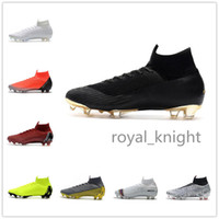 Wholesale cr7 best shoes resale online - best Mercurial Superfly VI Elite FG KJ XII CR7 Ronaldo Neymar Mens Women High Soccer Shoes Football Boots Cleats
