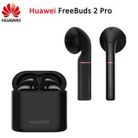 ingrosso mela 15-HUAWEI Freebuds 2 Pro Wireless Bluetooth auricolare Voice ID Control IP54 Auricolare impermeabile Carica wireless 15 ore Tempo di standby lungo per iPhone