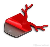 pegatinas de marcadores al por mayor-Nuevo diseño Patriotic Fawn Deer Etiqueta engomada lateral del coche 3D Etiqueta engomada decorativa auto del coche Emblema Bon Voyage para Audi / BMW