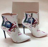 rote high heel kleid stiefel großhandel-Designer hot High Heels Spitz High-Top Lackleder Stiefel unten ist ein roter Stilettos Sexy Slip Dress Schuhe Party Schuhe