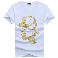 cráneo de los hombres t shirts al por mayor-2019 Diseñador de moda Marca P-P Cráneos de perforación en caliente Camiseta para hombre Ropa Camisetas Para Hombres Tops Manga corta Camiseta-16