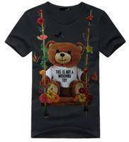 erkek kot gömlek toptan satış-Erkek T Shirt Moda Kot marka Baskı Komik T Shirt erkek Yaz Rahat Erkek Tişörtlü Hipster Hip-Hop Tee gömlek Erkekler Üst