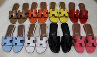 Wholesale black taupe sandals for sale - Group buy Slippers new French sandals fashion flat bottomed comfortable sandals