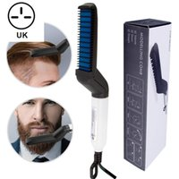Wholesale men beard cap for sale - Group buy Multifunctional Men Male Hair Comb Quick Beard Straightener Curling Curler Show Cap Beauty Hair Styling Tool Dropshipping