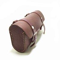 bolsas de herramientas de la vendimia al por mayor-E0985 Retro bicicleta hangback bolsa vintage bolsa de sillín paquete de bloque de bicicleta Puro cuero de vaca herramienta hecha a mano # 303965