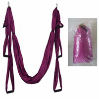 Wholesale yoga inversion swing for sale - Group buy Raction Device Yoga hammock Inversion Swing Trapeze hammock Anti Gravity Belt Tool stretch rope fitness equipment YHM001