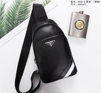 Wholesale small men sling bags resale online - 2019 Retro first layer soft cowhide men s chest bag new male multi layer cross body bag slung small back pack black leather chest x16x5cm