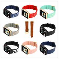 Wholesale girl bracelets watch for sale - Group buy For Apple Watch band Genuine leather strap smart watchband Bracelets Fashion MM MM MM MM stainless steel hook kids boy girl gift