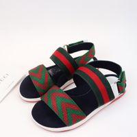 Wholesale fabric slippers pattern for sale - Group buy Brand Big Kids Designer Sandals for Little Girls Summer Luxury Slippers Toddler Sandales Enfants Slides Flip Flops Children Luxe Shoe Kid