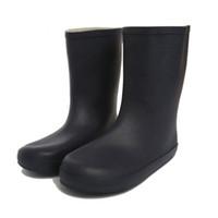 botas impermeables de invierno para niños al por mayor-Botas de lluvia para niños Caucho mate Niños Rainboots Impermeables Botas de lluvia Welly Fit Botas de invierno Calcetines para niños