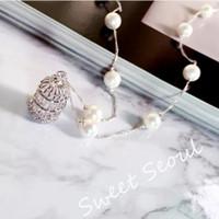 ingrosso collane di birdcage-designer gioielli maglione collana di perle birdcage scava fuori collana pendente zircone per le donne classico moda calda