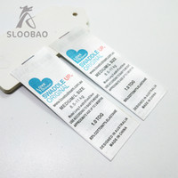 Wholesale clothing labels for sale - custom Leading mark printed satin labels garment clothing tags woven labels silk ribbon tape Accessories a