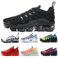siyah limon toptan satış-Boyutu ABD 13 Yeni 2019 Geometrik Aktif Fuşya Siyah TN Artı Erkek Kadın Izgara Baskı Limon Kireç Bumblebee için Koşu Ayakkabıları Spor Sneakers