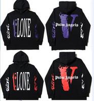 manteau d'hiver à capuchon féminin achat en gros de-2019 Vlone Palm Angels À Capuche Sweat Hommes Femmes Vestes Survêtement Hip Hop Streetwear Harajuku Hiver Marque Manteau À Capuche De Mode Pull