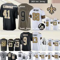ingrosso uomini di michael-41 Camicie Alvin Kamara New Orleans Saints 9 Drew Brees 23 Marshon Lattimore 13 Michael Thomas new jerseys Top UOMO