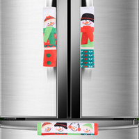 Wholesale anti cartoons for sale – best 3pcs Microwave Oven Door Handle Cover Christmas Cartoon Snowman Printed Anti static Refrigerator Dual Handles Covering New