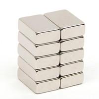 блок постоянного магнита n52 оптовых-10шт 14.7 * 10 * 4.7мм Блок N52 Прямоугольный магнит Редкоземельный NdFeB неодимовый постоянный магнит