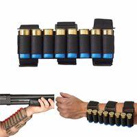 coquilles de chasse achat en gros de-Chasse tactique 8 rounds Shooters Sleeve Shell Holder Sac de chasse balle avant-bras
