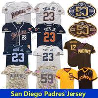 machado jersey venda por atacado-San Diego Padres Personalizados Jersey Fernando Tatis Jr. Apelido Manny Machado Chris Paddack Eric Lauer Eric Hosmer Caçador Renfroe EL NINO