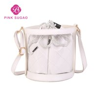 278991f6d5 Wholesale jelly bag online - Pink Sugao Clear Jelly Transparent PVC Handbags  Purses Designer Wallet Women