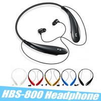 kulaklıklar bluetooth logosu toptan satış-HBS-800 HBS 800 Bluetooth Kulaklık Spor Kulaklıklar Kablosuz Bluetooth 4.0 Kulaklık Hansfree Boyun Bantları Kulak İçi Kulaklıklar Hiçbir LOGO Kutusu ile
