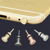 противопылевые телефонные наушники оптовых-3.5mm Earphone Jack Plug 3.5 AUX Headset Dust Interface Anti Mobile Phone Card Retrieve Card Pin For  5 6 Plus