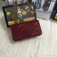 ingrosso catene di borse trapuntate-Borse a spalla da donna firmate Love Heart Bag Mini Patta a catena Borse a tracolla Borsa in vera pelle trapuntata di alta qualità Freeshipping 18cm