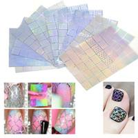 airbrush nagel schablone designs großhandel-400 Stücke Nail Vinyls Stencil Kit Nagel Guide Vorlage Aufkleber für Nail Art DIY Airbrush Stencil Tipps Decals Mixed 36 Designs