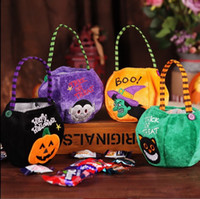 Wholesale party supplies for events resale online - Trick or treat Happy Halloween Candy Bag Gift Bags Pumpkin Trick Package Sacks Party Gift For Kids Event Party Supplies