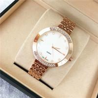 bracelets de montre en plastique achat en gros de-Populaire Femmes Montre Rose Or en acier inoxydable Dame Montre-Bracelet À Quartz De Haute Qualité Designer montres filles cadeaux en gros Relogio Masculine