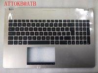 üst klavye toptan satış-Danimarka İsveç Norveç Norveç ND Klavye Asus N56 N56V N56VM N56VZ N56SL N56D N56XI N56VZ gri palmrest Aydınlatmalı