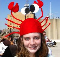 trajes de lagosta venda por atacado-Engraçado Caranguejo Chapéu Do Partido Lagosta Vermelha Caranguejo Animal Do Mar Chapéu Acessório Traje Adulto Criança Cap Presente