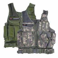 ingrosso maglia tattica gratuita-Outdoor Tactical Vest Men Tactical Vest Camouflage Body Armor Molle Outdoor Equipment Jungle 2Color Libera la nave