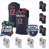 baloncesto clave al por mayor-Virginia Cavaliers 2019 Final Four 12 De'Andre Hunter 5 Curtis Staples 2 Braxton Key 25 Mamadi Diakite 33 Jack Salt Jersey de baloncesto UVA
