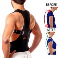ingrosso uomini di correzione posteriore-Supporto per la schiena Brace Belt Corrector Rettificare Straighten Postura Correzione Corsetto Uomini Pain Relief Lombare Correttore della colonna vertebrale # 156657