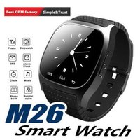 Wholesale wireless remote control for alarm for sale - Group buy M26 smartwatch Wireless Bluetooth Smart Watch Phone Bracelet Camera Remote Control Anti lost alarm Barometer V8 A1 U8 watch for IOS Android