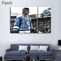 adler bilder groihandel-Modern Art Wall Painting Ice Hockey Montreal Canadiens Capitals Sport Themed Eagle Picture Printed On Art Canvas No Framed
