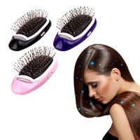 kämmt ionen großhandel-Tragbare elektrische ionische haarbürste negative ionen haarkamm pinsel haarmodellierung styling haarbürste