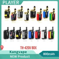 Wholesale Original Kangvape TH420 V Box Kit mAh W Adjustable Wattage Temperature Vape Mod TH V Starter Kit with ml Ceramic Coil Cartridge