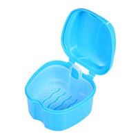 zahnböden großhandel-Gebiss Bad Box Fall Dental Falsche Zähne Aufbewahrungsbox Reinigungsbehälter Spülkorb Halter Gerätehalter Tablett W5040