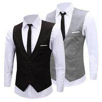 ingrosso tuxedo cool-Classico formale Catena Affari Slim Fit Dress vestito della maglia degli uomini dello smoking Gilet 08WG alta qualità New Cool